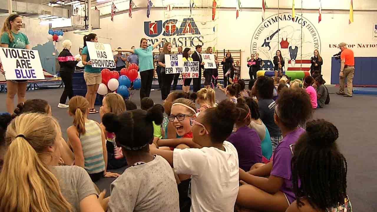 Tulsa Gymnasts Surprised With New Gym After Devastating 2015 Tornado