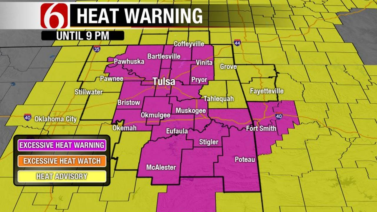Heat Warnings Issued For Oklahoma, But Cooler This Weekend