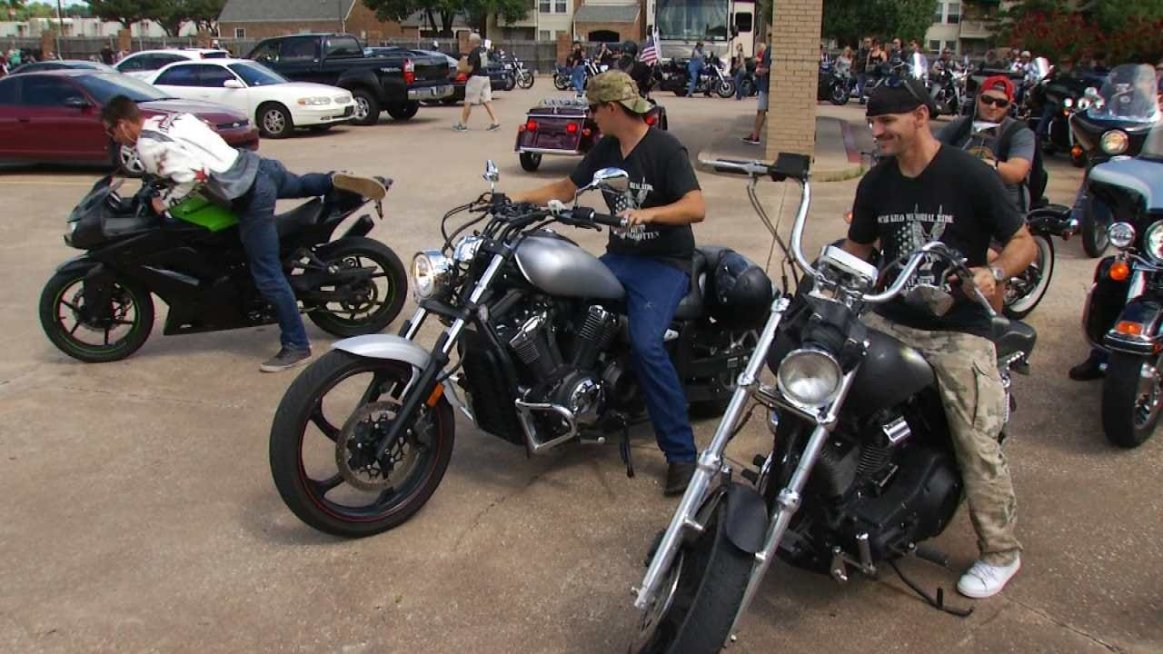 Bikers Gather In Tulsa To Honor Soldiers Killed In Operation Enduring Freedom