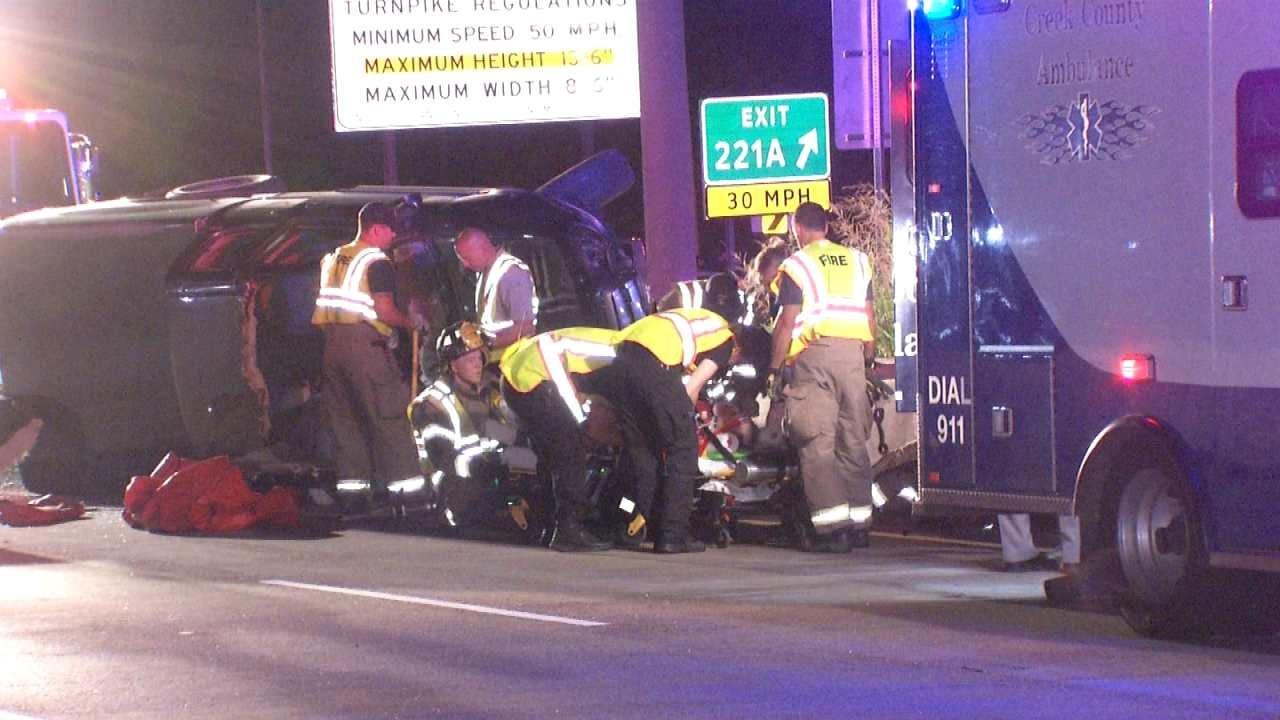 Driver Injured In Turner Turnpike Crash Near Sapulpa