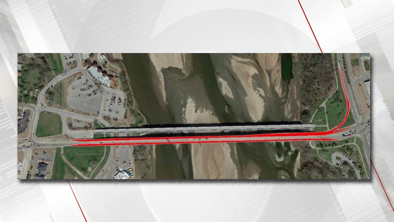 Painting Project To Close Lanes Of Jenks Arkansas River Bridge