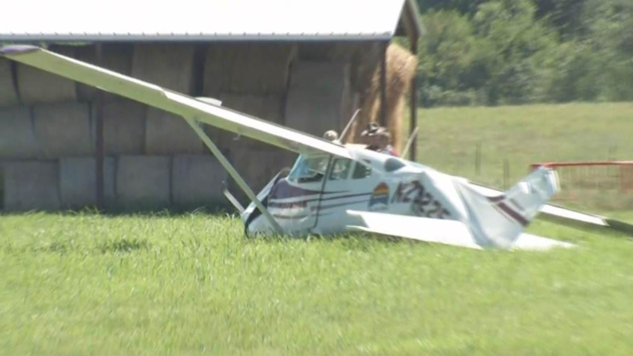 Small Airplane Makes Hard Landing In Field North Of Skiatook