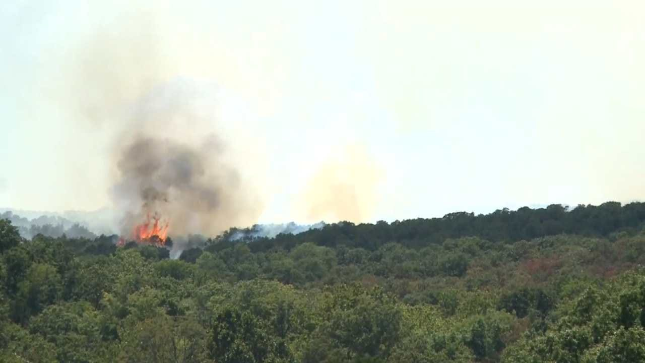 Wildfire Burning Near Turner Falls Leads To Evacuations