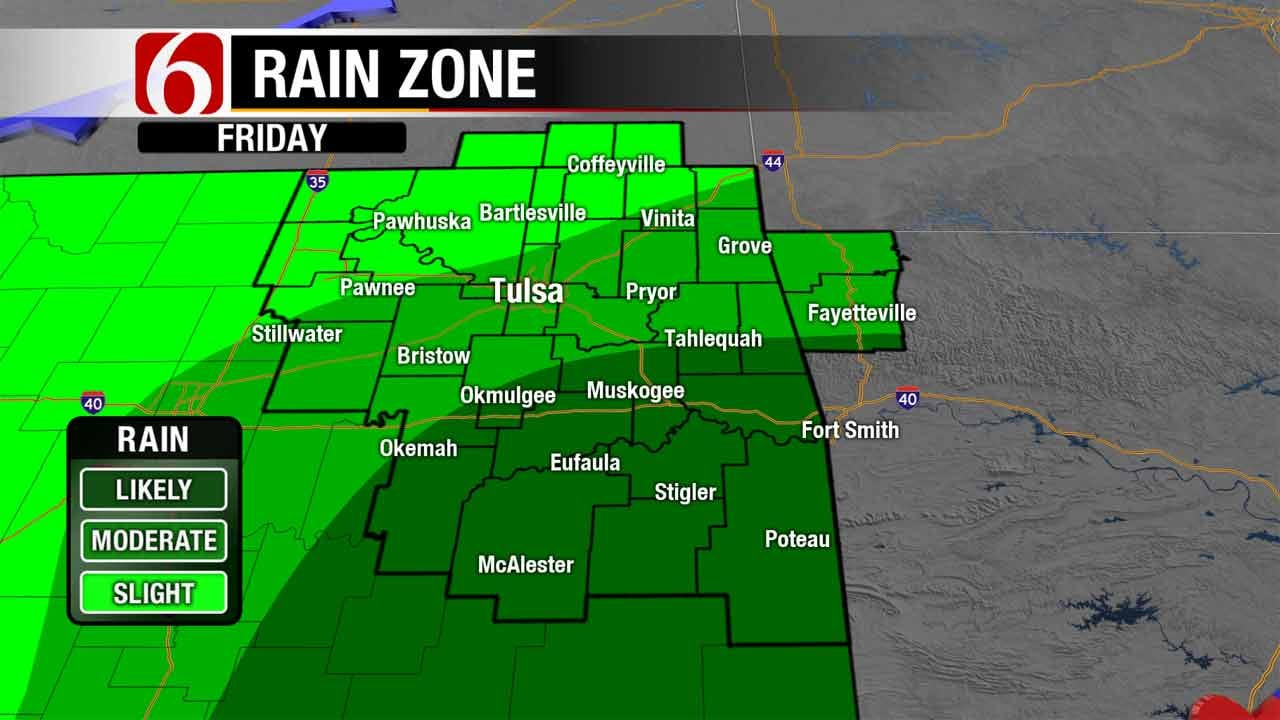 Rain, Cooler Temps In The Forecast For Northeastern Oklahoma