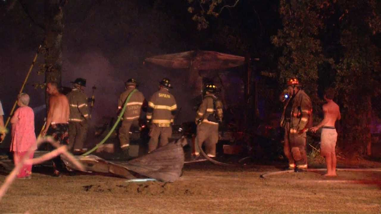 Fire Destroys Home Near Kiefer