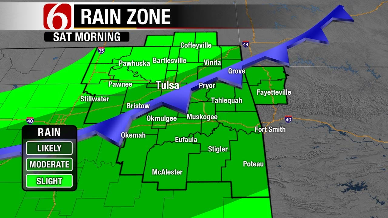 Good Chance For Rain As Cool Front Crosses Oklahoma