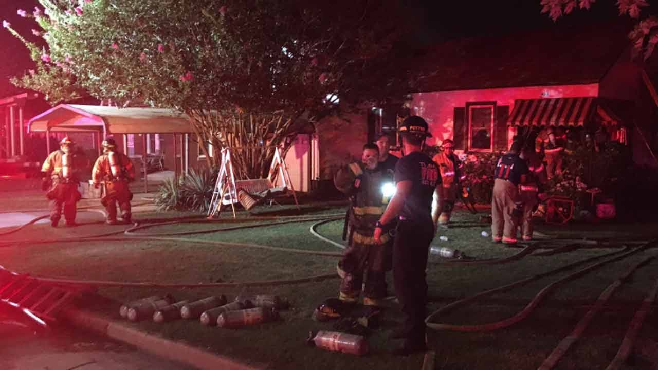Man Treated For Smoke Inhalation In Tulsa House Fire