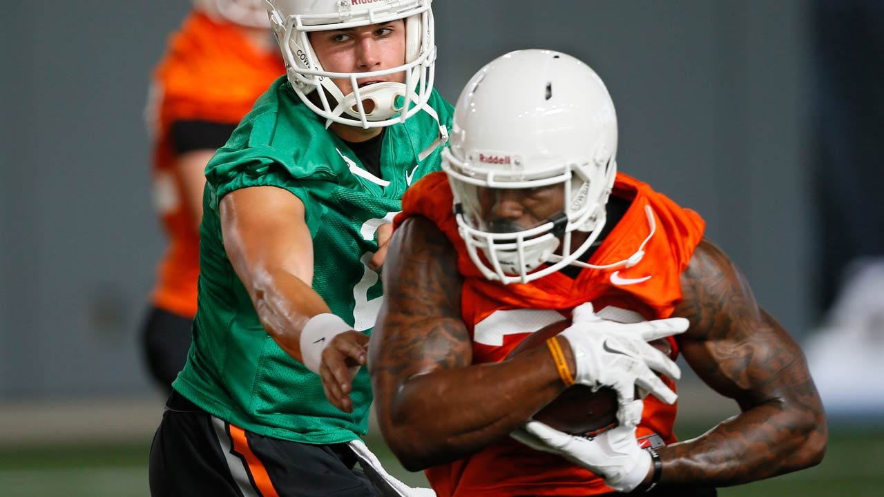 OSU Football: Cowboys Talk Day 1 Of Practice, Gundy's Mullet