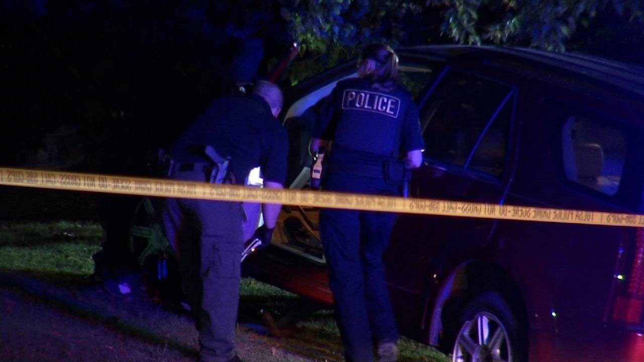 Tulsa Murder Suspect Arrested After Crashing Car Near Police Station