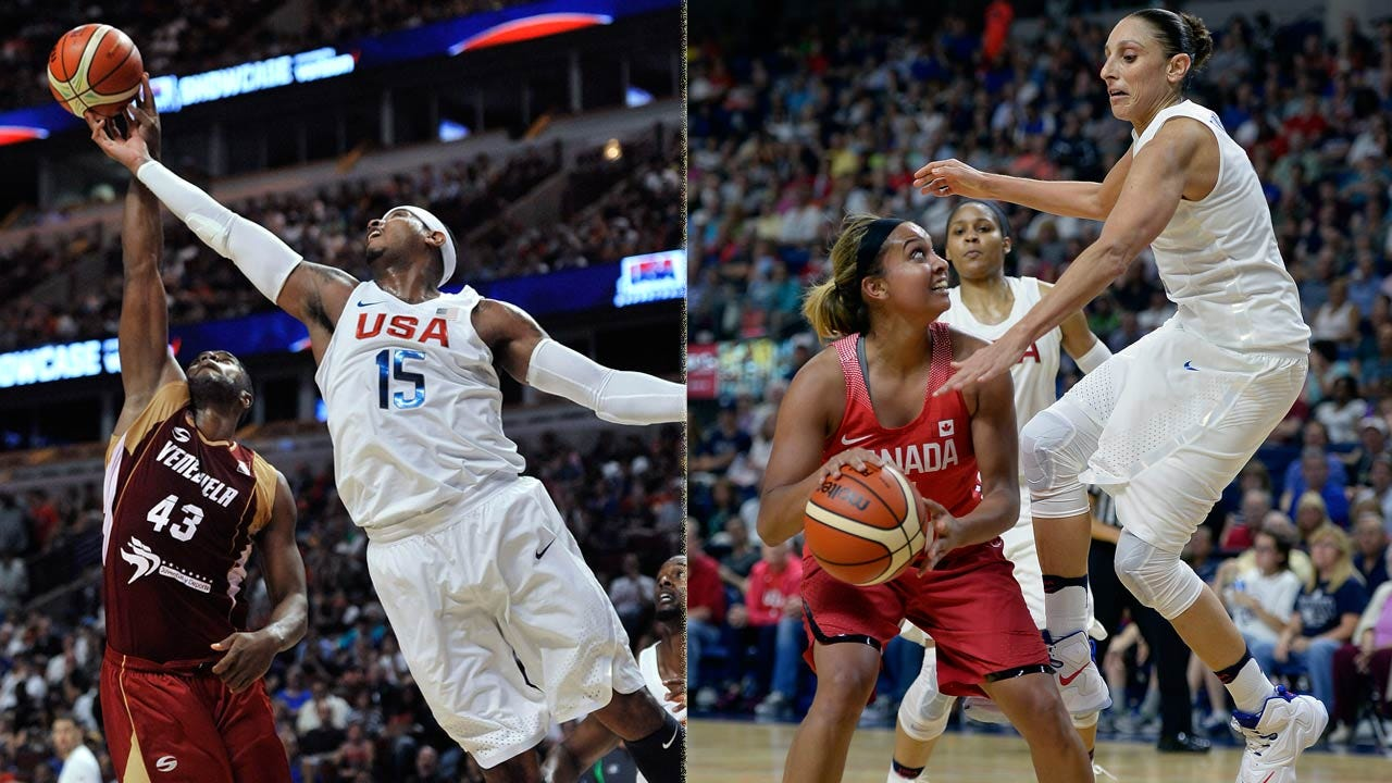 Unbeaten US Basketball Teams Ready For Rio Olympics