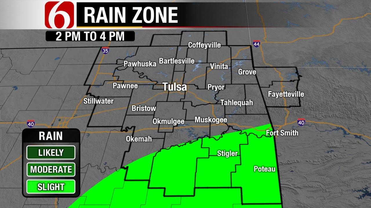 Showers Decrease As Cooler Air Spreads Across Oklahoma
