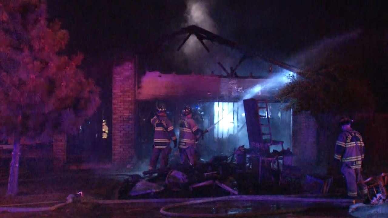Explosions Heard As Broken Arrow Home Burns