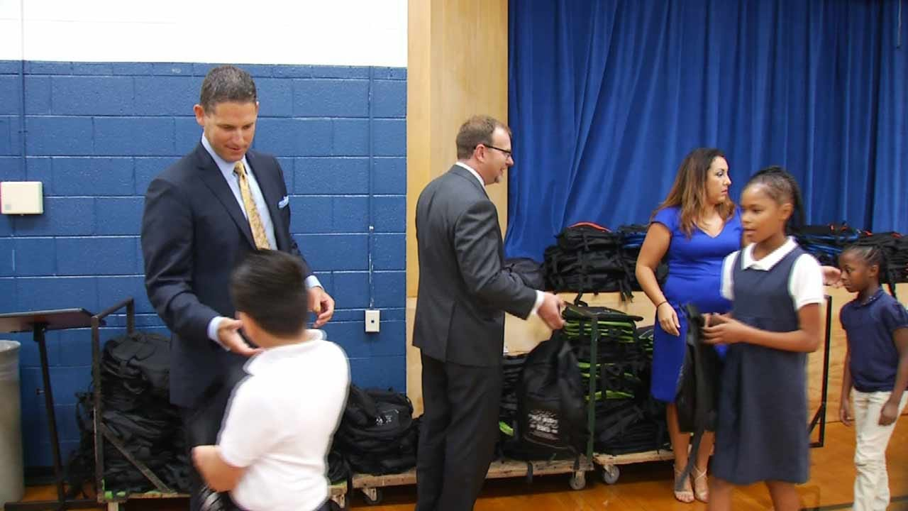 Law Firm Donates School Supplies To Tulsa Students