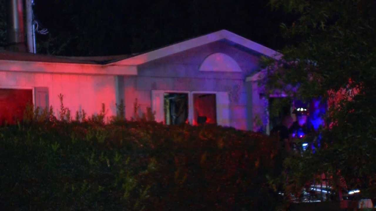 Fire Damages Rural Tulsa County Home