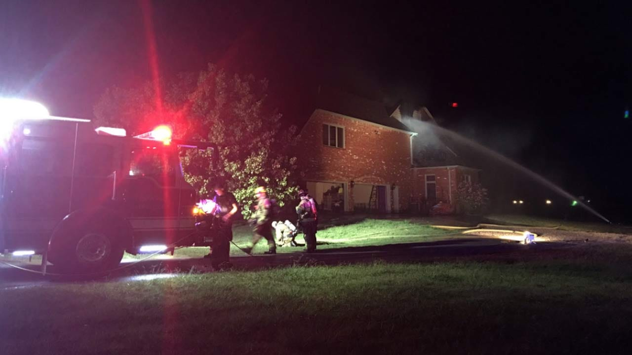 Lightning Strike Suspected In Owasso House Fire