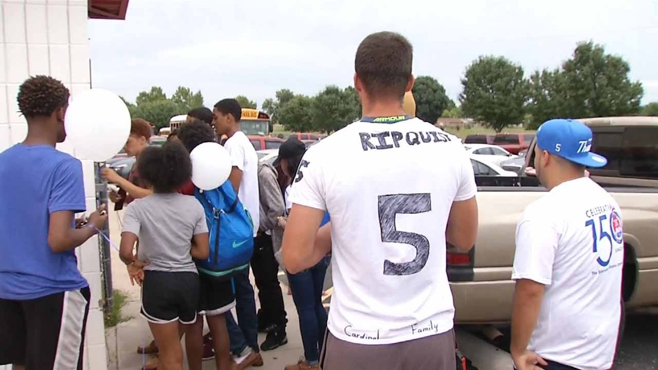 East Central Football Team Honors Fallen Player Before Kickoff
