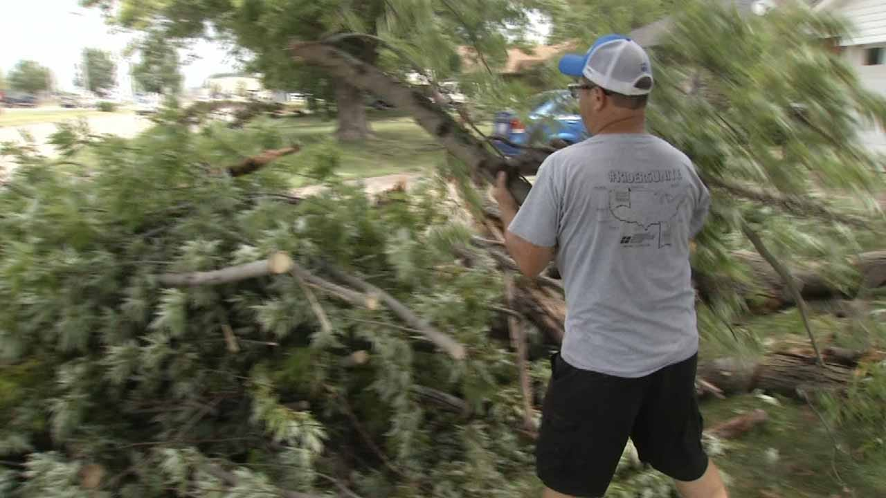 Hard-To-Predict 'Microburst' Causes Claremore Damage