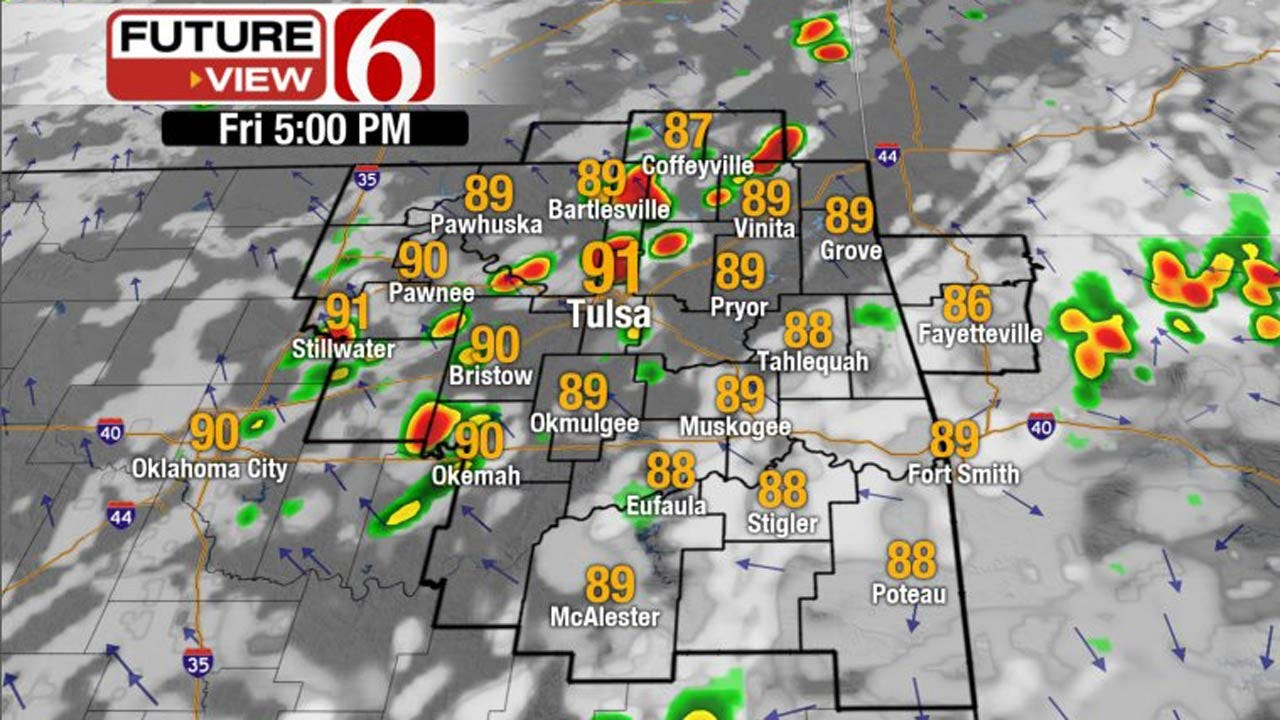 More Storms, Showers Possible Across NE Oklahoma