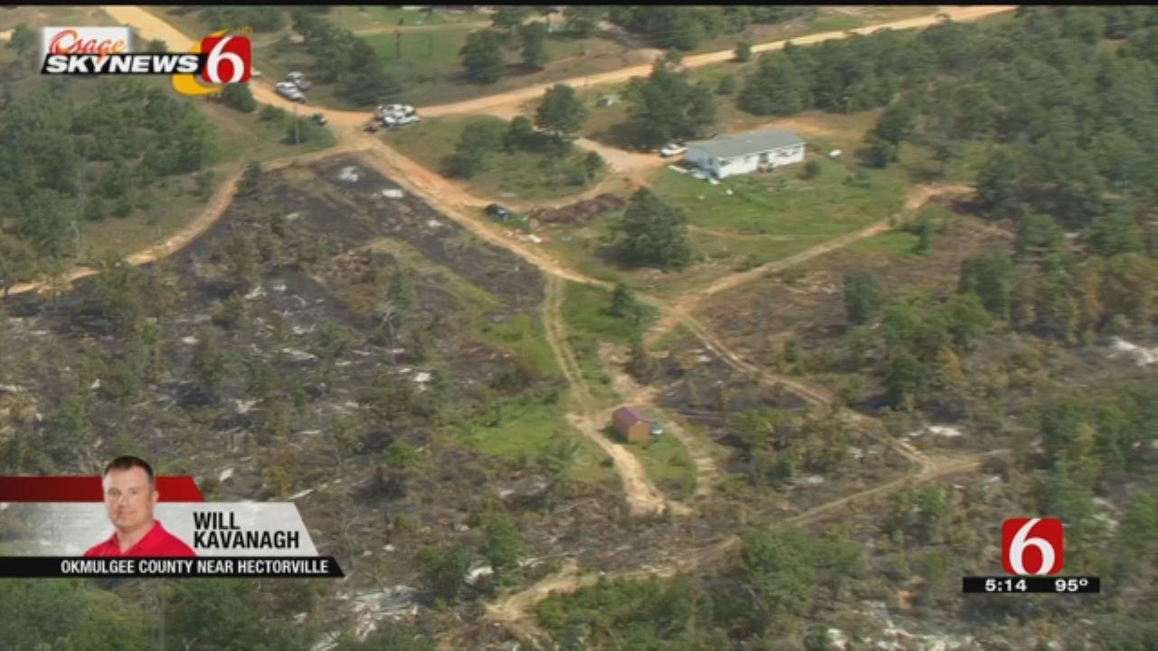 Okmulgee County Wildfire Burns Over 300 Acres