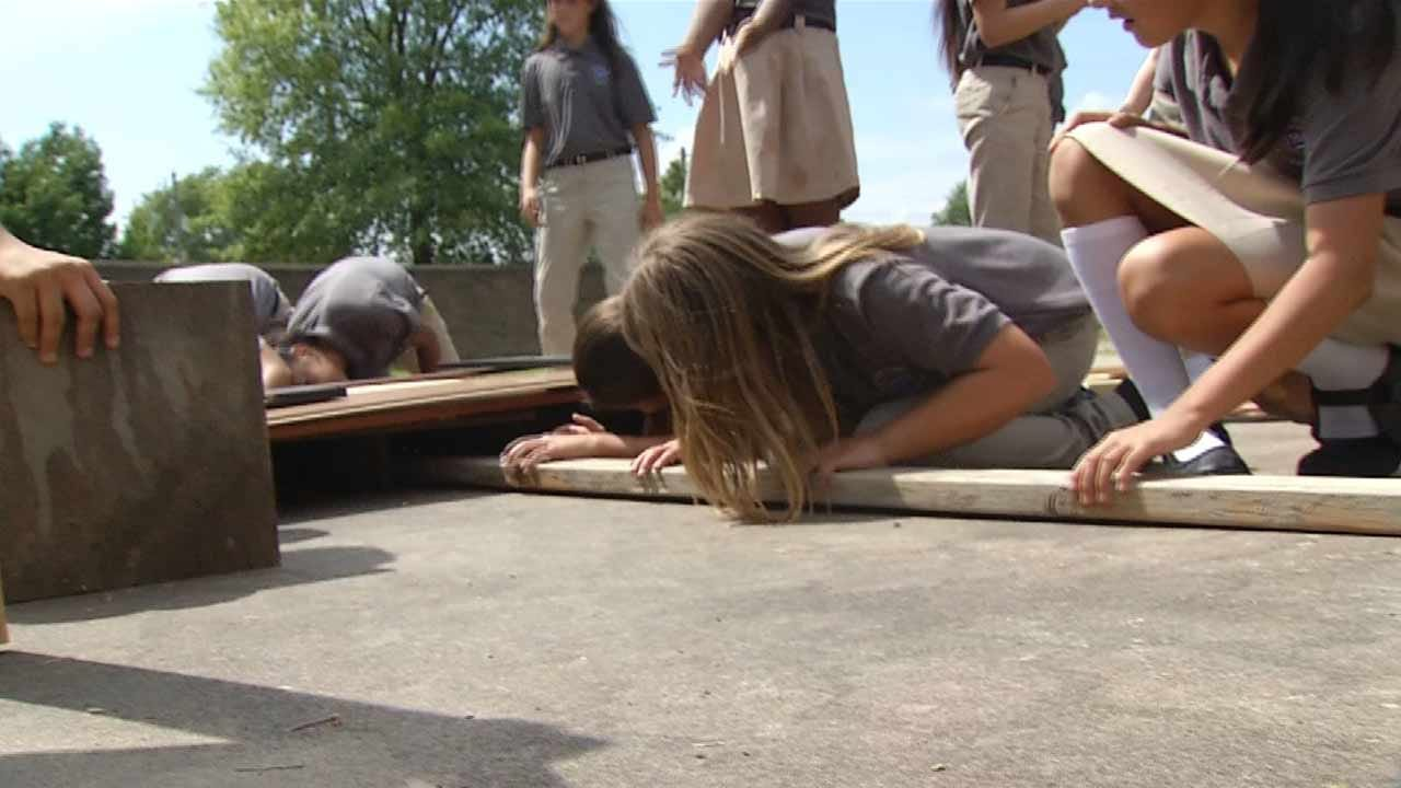 Students Need Help Completing Rafts For Race Down Arkansas River