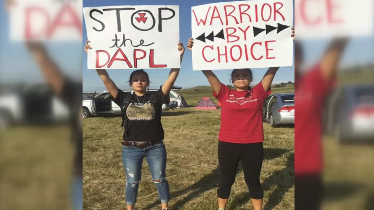 Local Native American Group Travels To Protest N.D. Pipeline