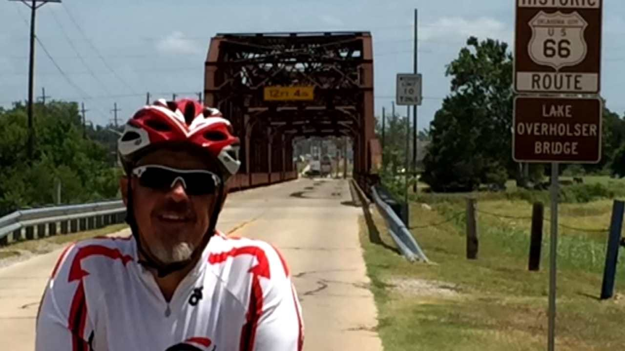 Man Biking Across Country Hopes Tulsa Stop Will Help Those Dealing With Impact Of Addiction