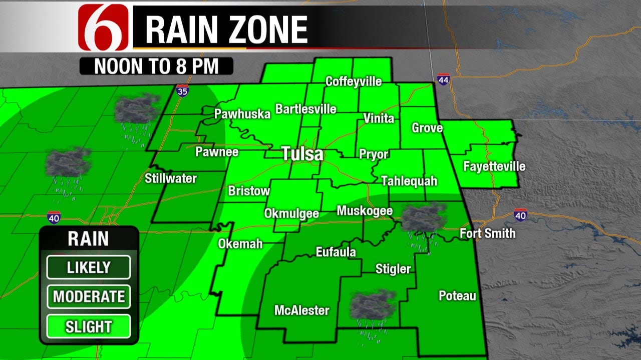 Threat Of Showers, Storms Continues For Eastern Oklahoma