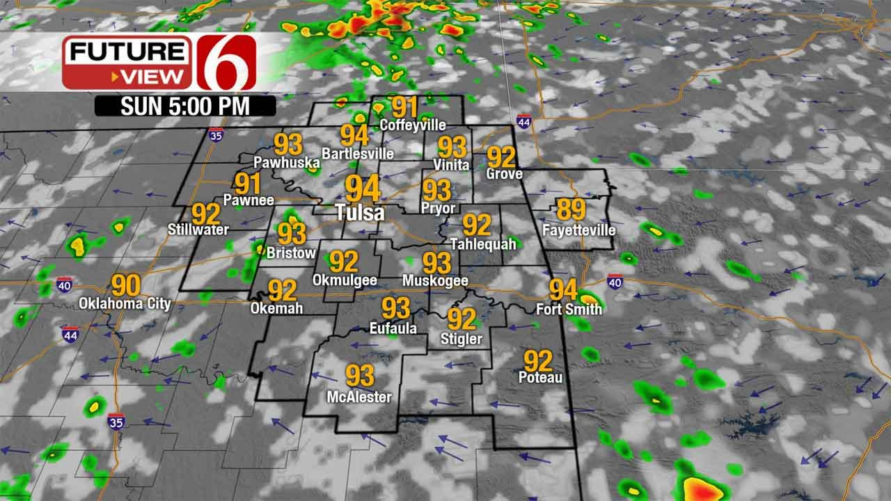 Sunday Brings Chance Of Scattered Showers To Green Country