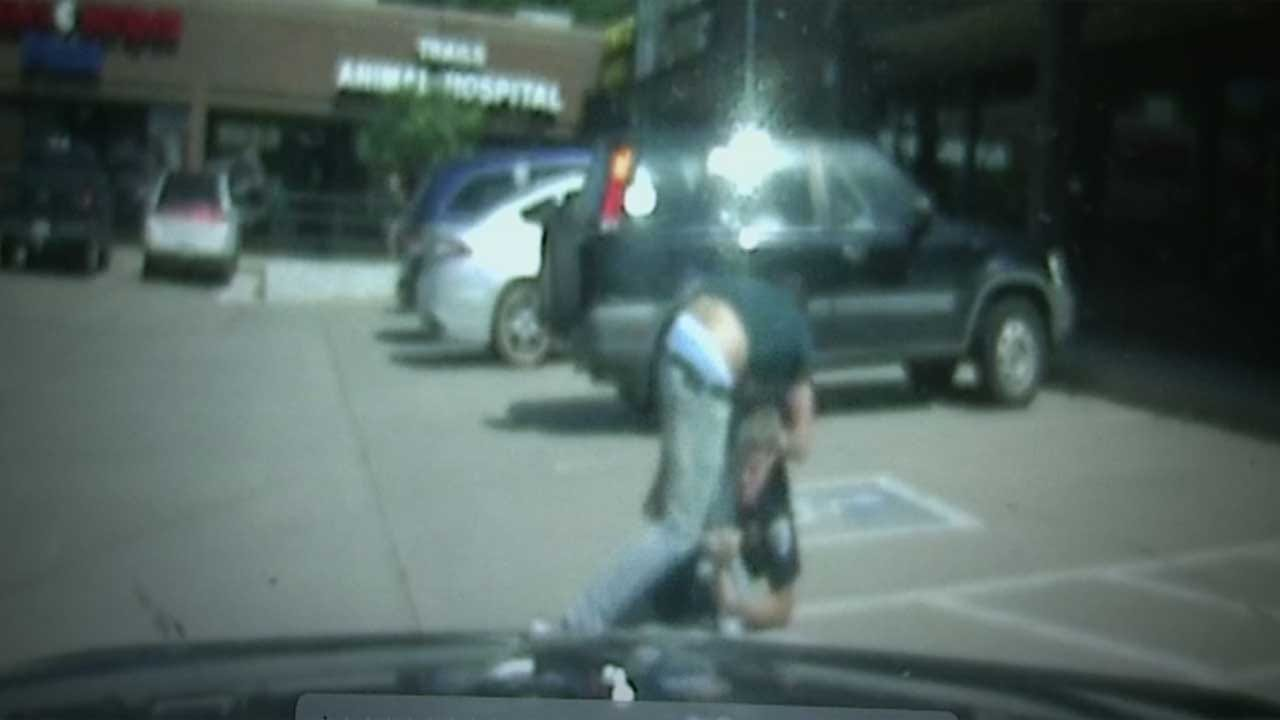 WATCH: Bystander Jumps In To Help Edmond Officer Under Attack