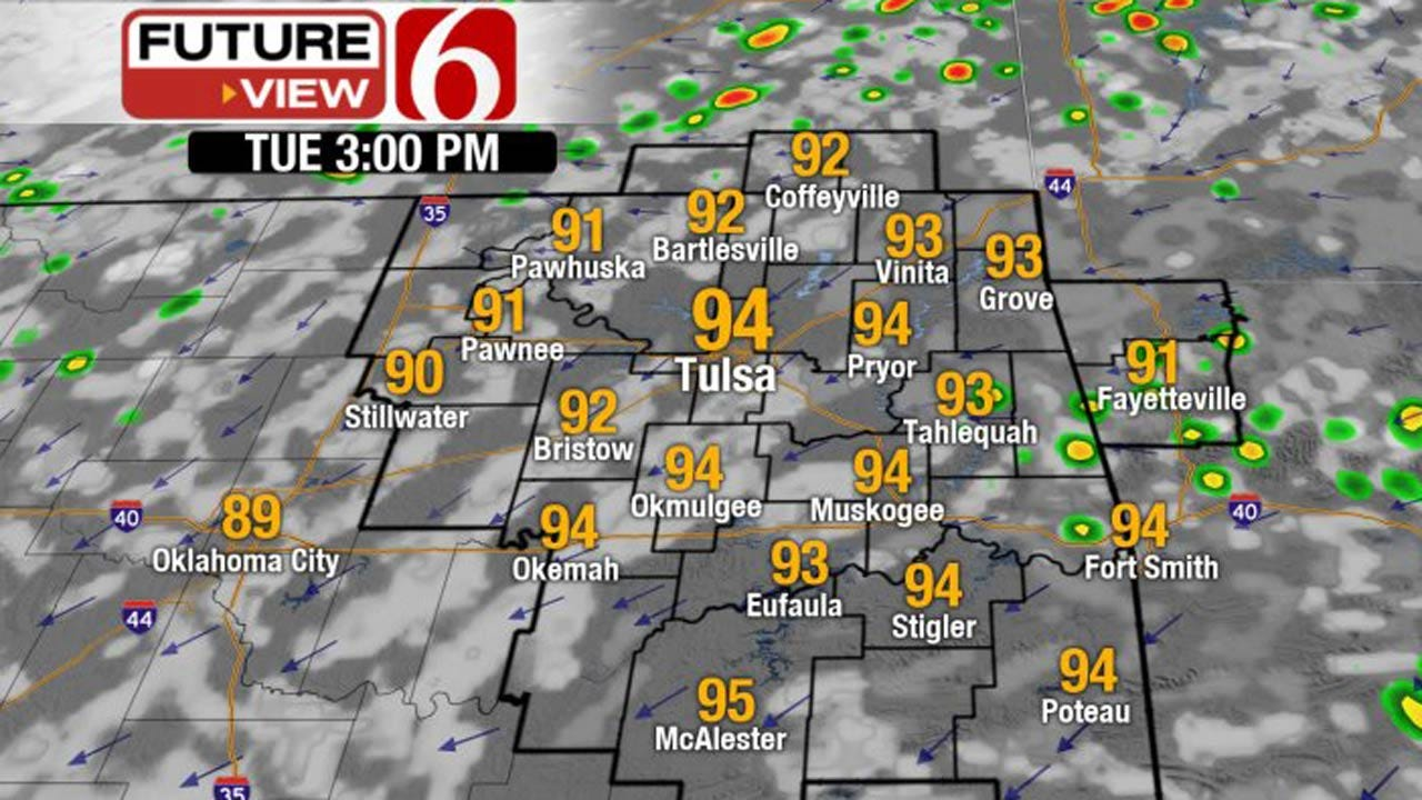 Scattered Storms Continue, Before Front Moves Into Oklahoma
