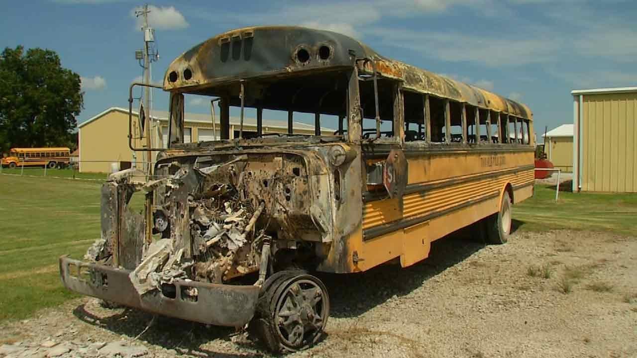 Third Teen Arrested In Twin Hills School Bus Burning