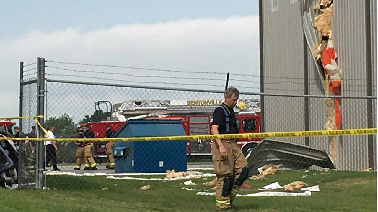 Pilot Killed When Plane Crashes Into Hangar At Bentonville Airport