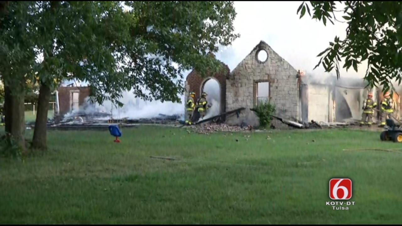 Fire Destroys Kellyville-Area Home