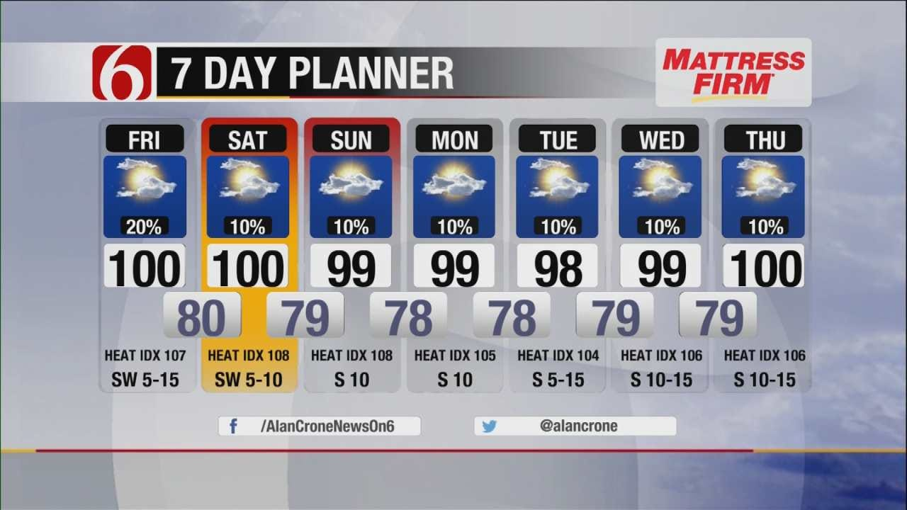 Hot And Humid Oklahoma, With An Isolated Storm Possible