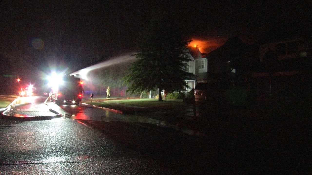 Fire Sparked By Lightning Strike Destroys Owasso Home