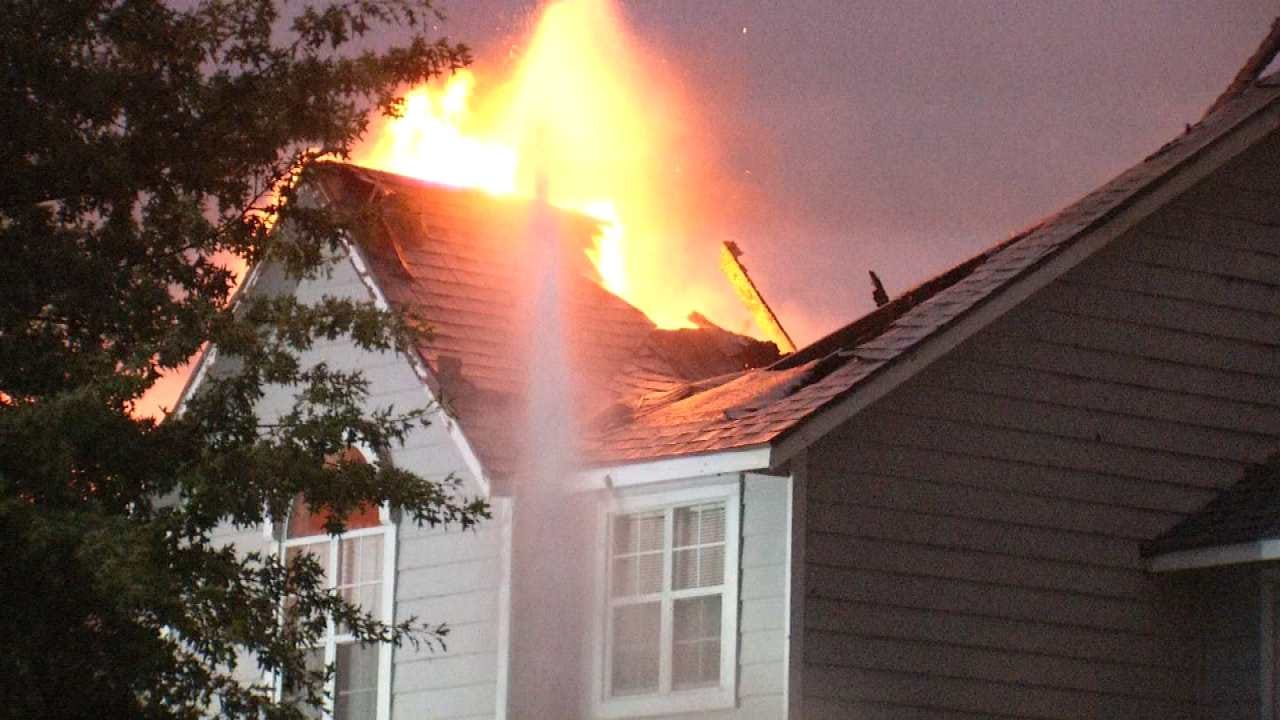 Owasso Family Loses Home After Lightning Strikes Roof