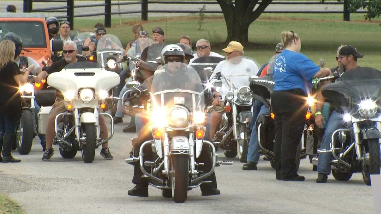 Northeast Oklahoma Bikers Raise Over $16K For Families Of Fallen Officers