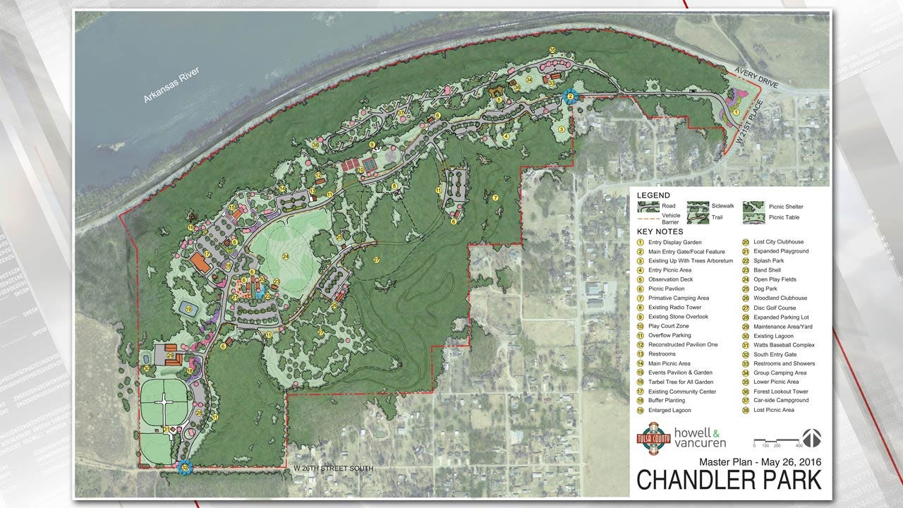 Master Plan Released For Tulsa County's Chandler Park