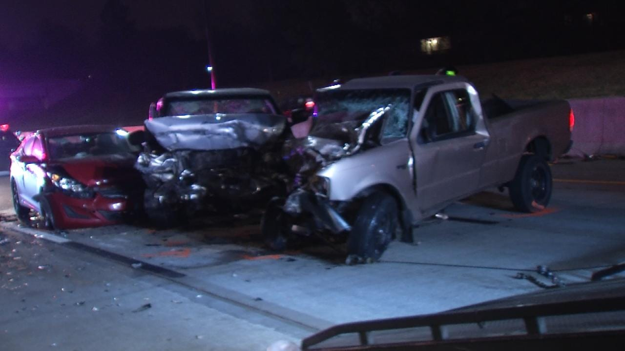 Driver Suspected Of DUI Causes 3-Vehicle Crash After Driving Wrong Way