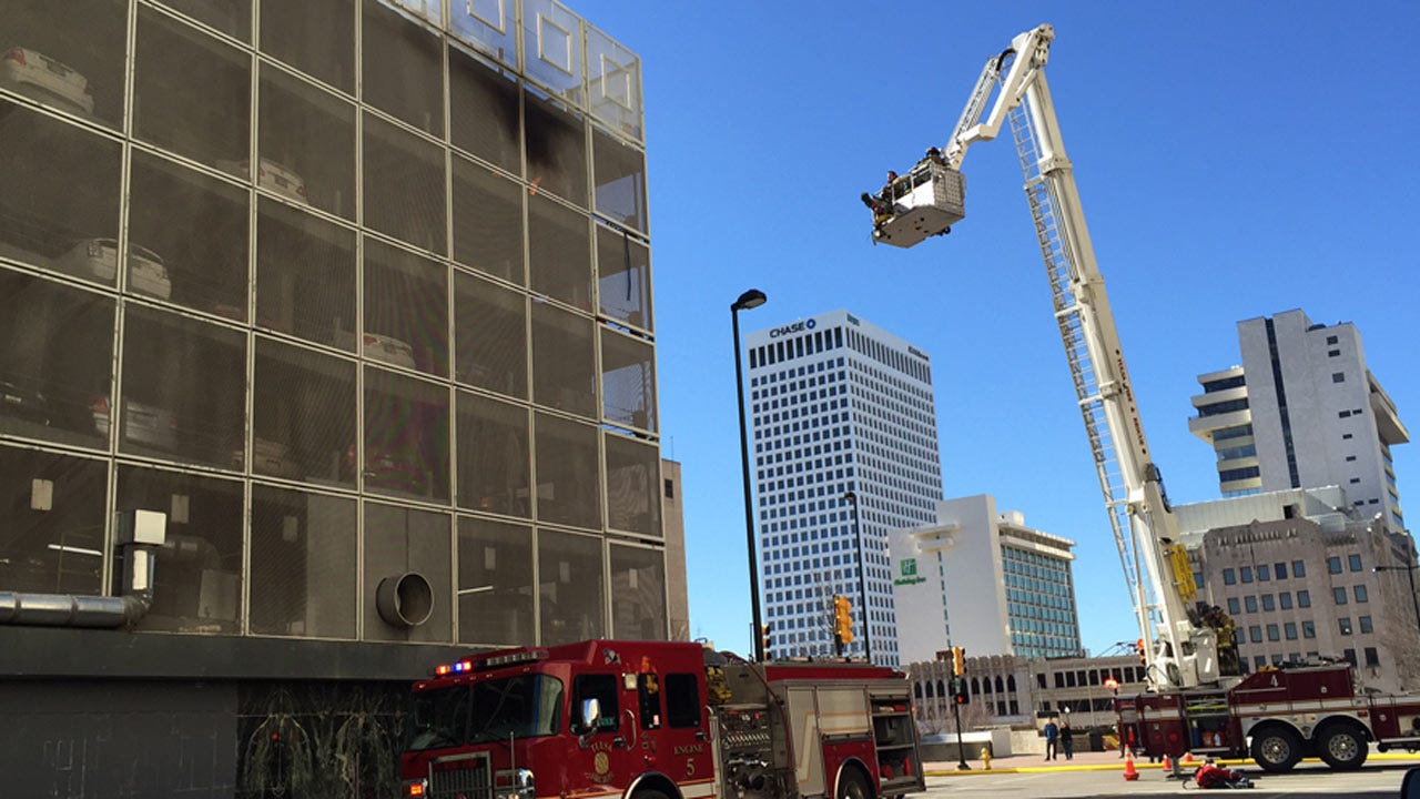 Vehicle Catches On Fire In Downtown Tulsa Parking Garage