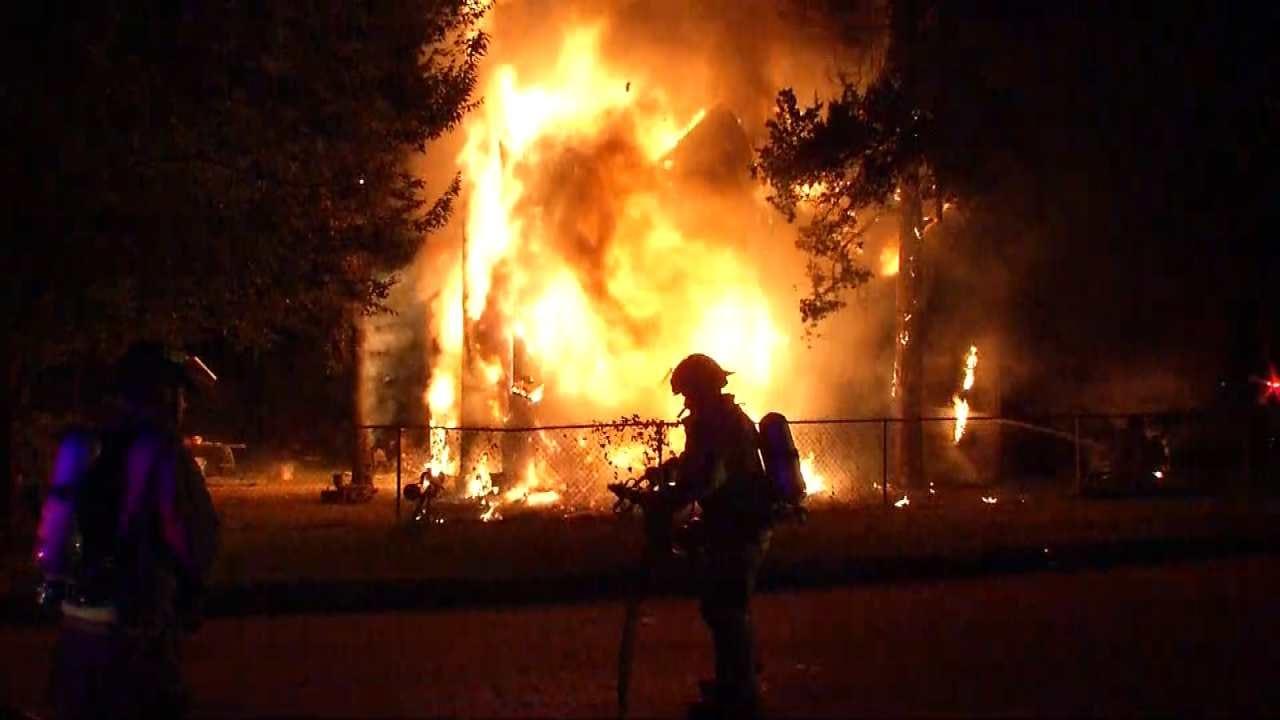 Fire Destroys Tulsa Home