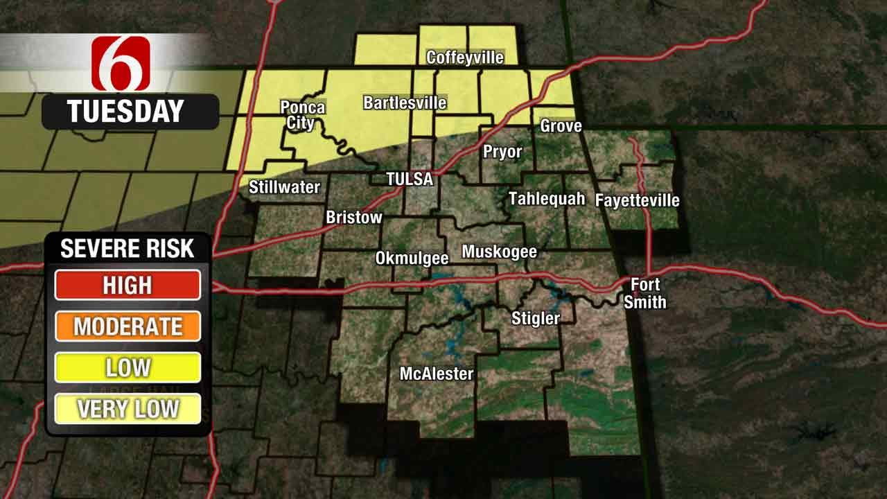 Chance Of Storms In NE Oklahoma, Warm & Gusty