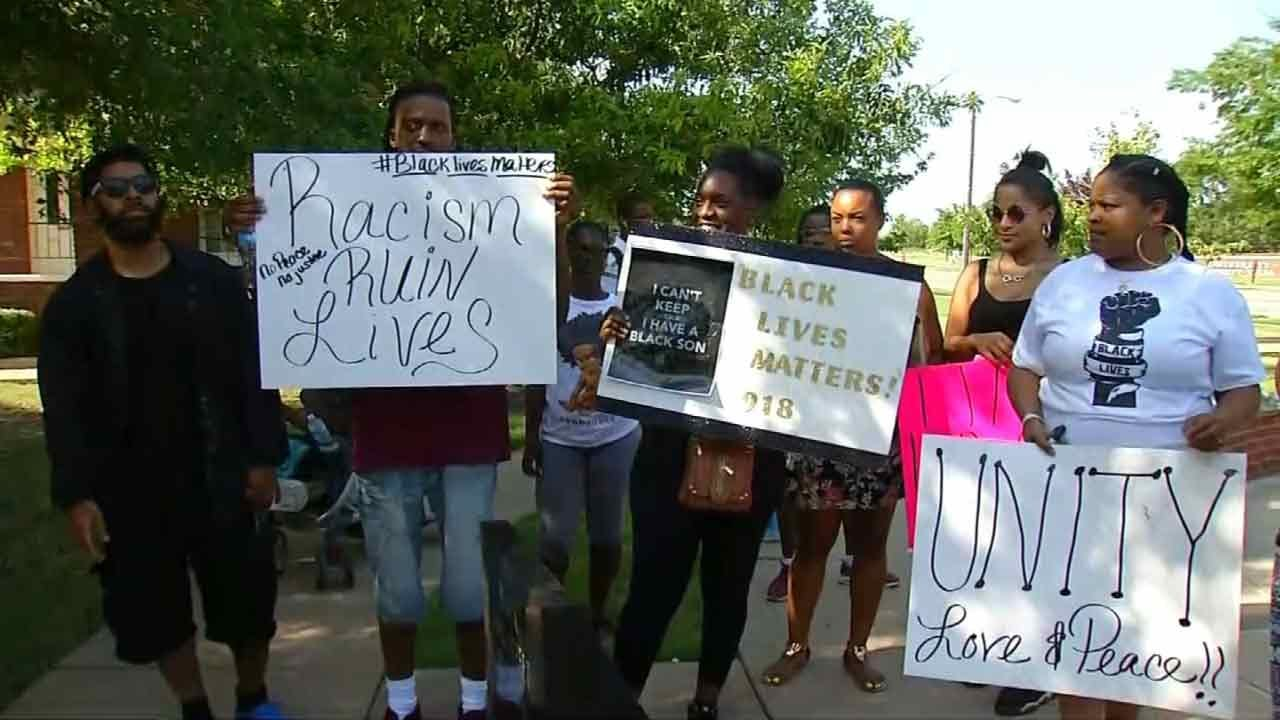 Organizers Hold Black Lives Matter Protest In Downtown Tulsa