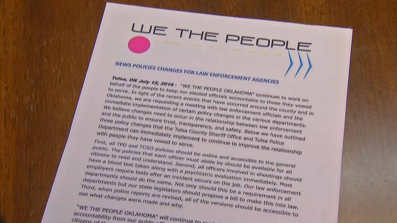 'We The People' Calling For Changes In TPD, TCSO Policies