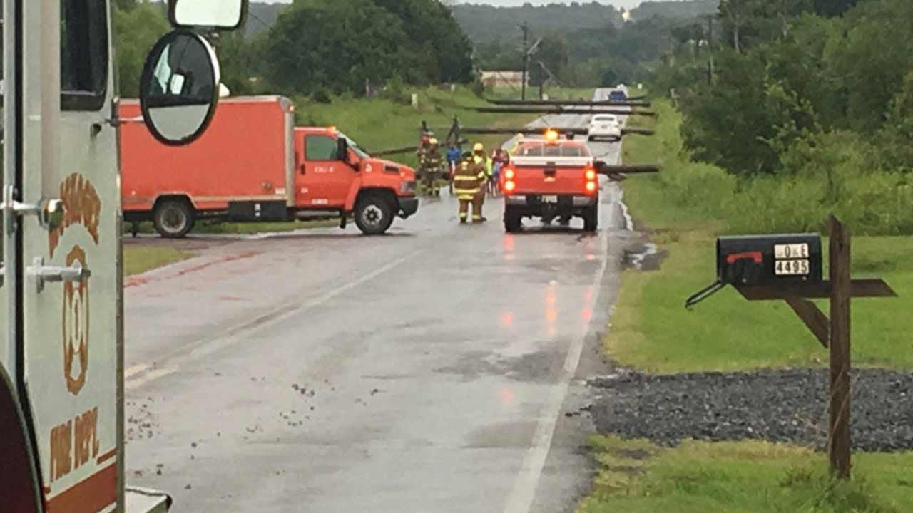Firefighters Rescue Families Trapped By Downed Power Lines In Muskogee
