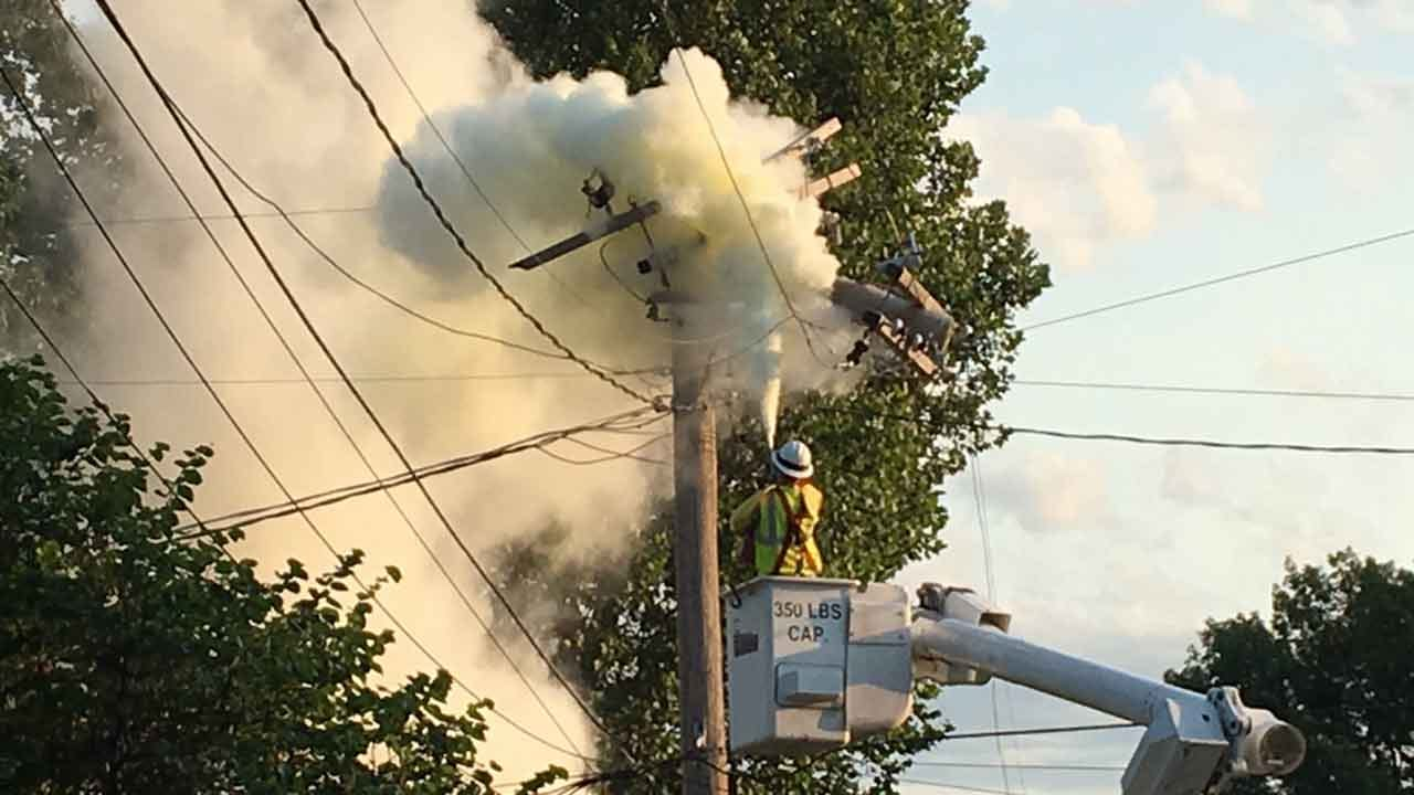 Lightning Strike Blamed For Tulsa Transformer Fire