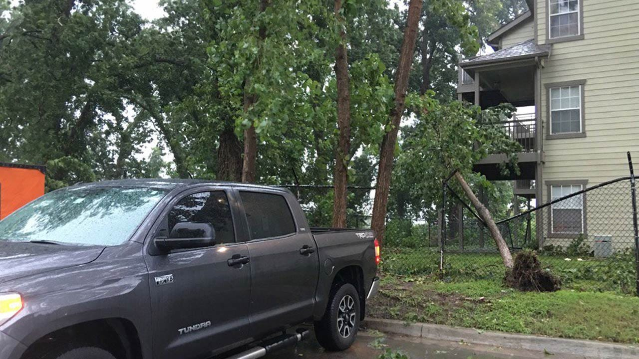 Severe Storms, Dangerous Winds Rake Across Eastern Oklahoma