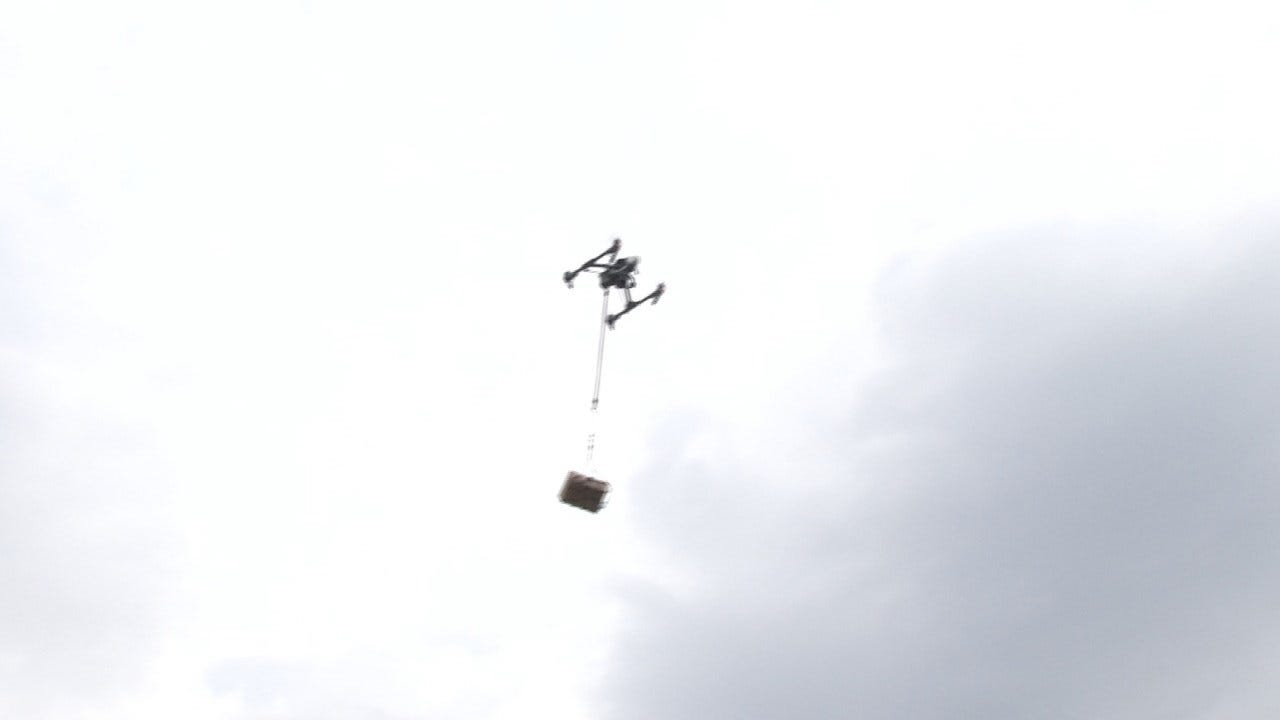 Tulsa Companies Demonstrate Drone Tech By Delivering Lunch