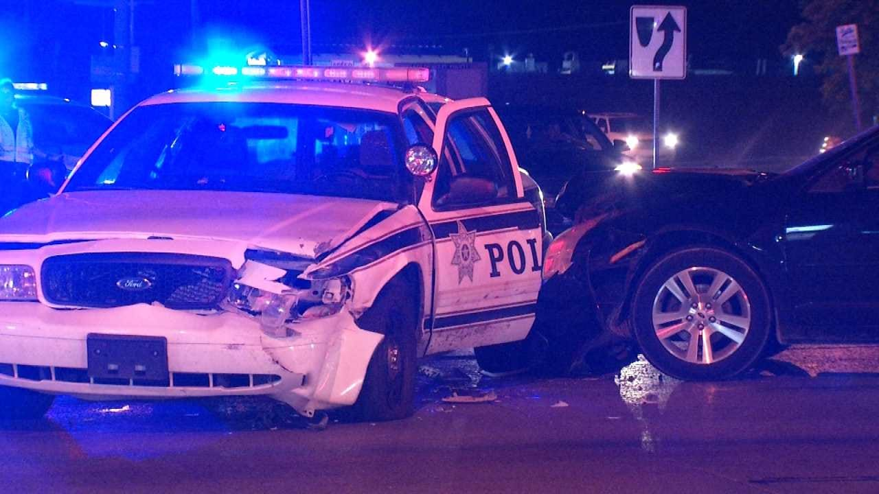 Tulsa Officer Suffers Minor Injuries In Crash