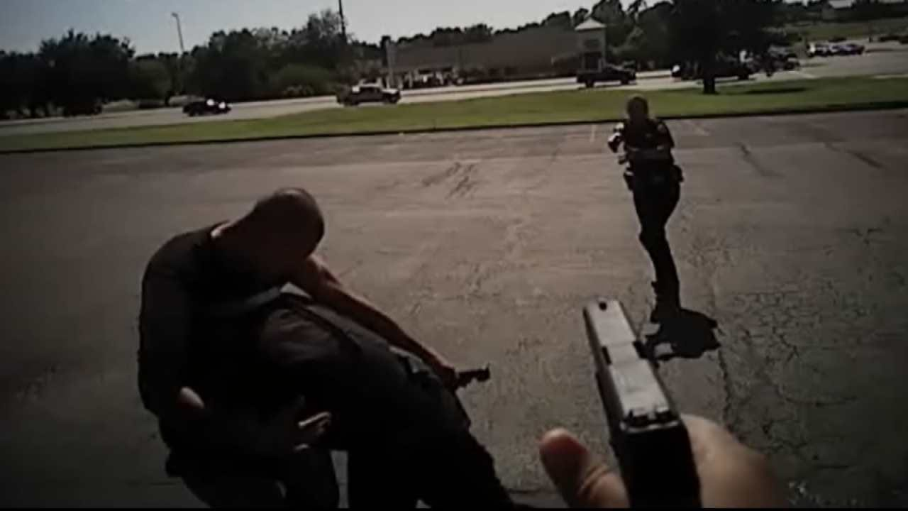Body Cam Shows Sand Springs Police Take Down Robbery Suspect